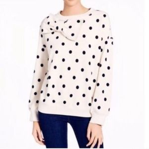 Kate Spade Polka-Dot With Bow Sweatshirt Sz S